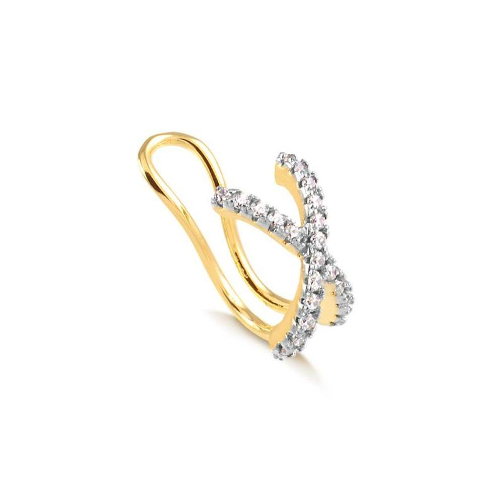Piercing-Falso-de-Orelha-com-Zirconias-Brancas-Banhado-a-Ouro-18k