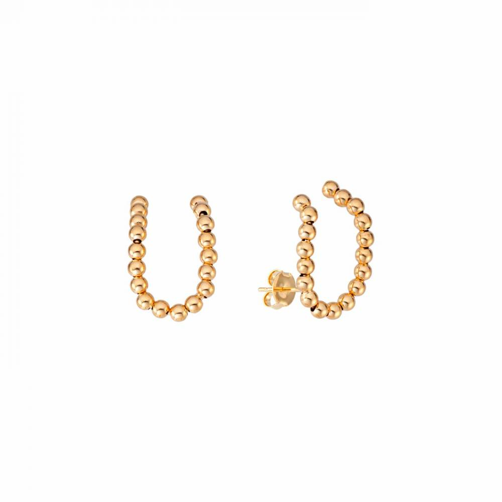 69603---Brinco-Ear-Hook-Dourado-com-Bolinhas-Banhado-a-Ouro-18k--1ª-