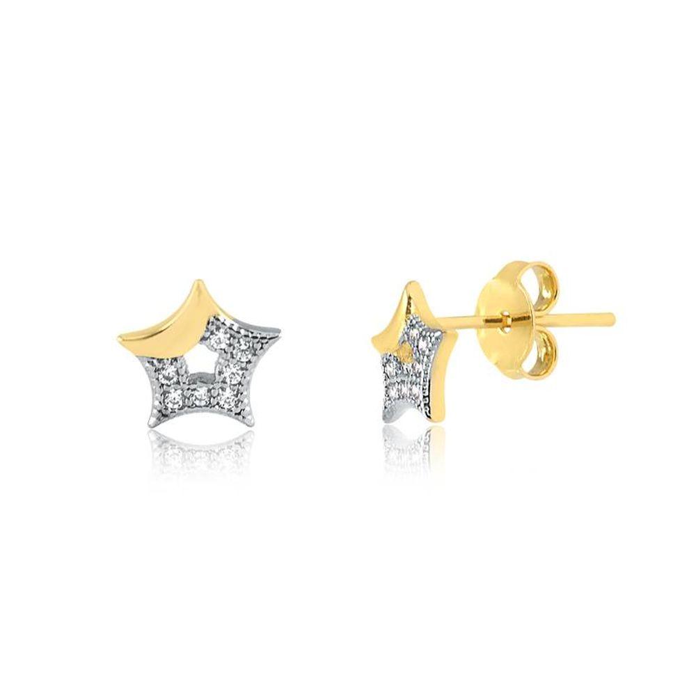 69872---Brinco-Estrelas-Dourado-com-Detalhe-de-Zirconias-Banhada-a-Ouro-18k