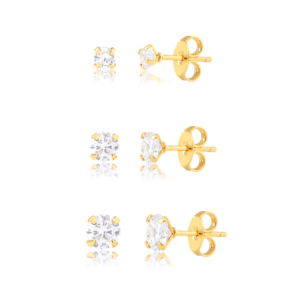 Kit-com-3-brincos-com-de-zirconias-com-tamanhos-variados-banhado-a-ouro