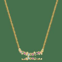 Colar-delicado-com-zirconias-coloridas-banhado-a-ouro-18k