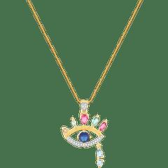 Colar-dourado-de-olho-grego-e-zirconias-coloridas-banhado-a-ouro-18k