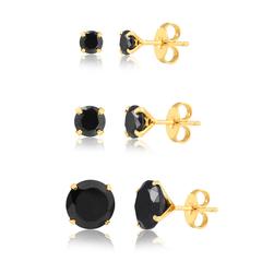 Kit-com-3-brincos-dourados-de-zirconias-negras