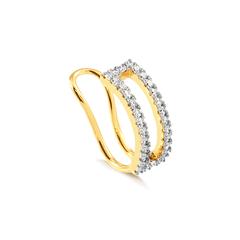 Piercing-dourado-banhado-a-ouro-duplo-com-cravejamento-de-zirconias-brancas