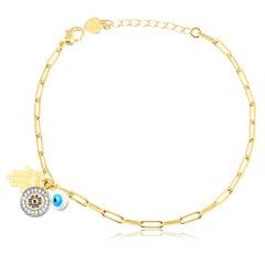 Pulseira-Dourada-de-Elos-Cartier-com-Patua-Banhada-a-Ouro-18k