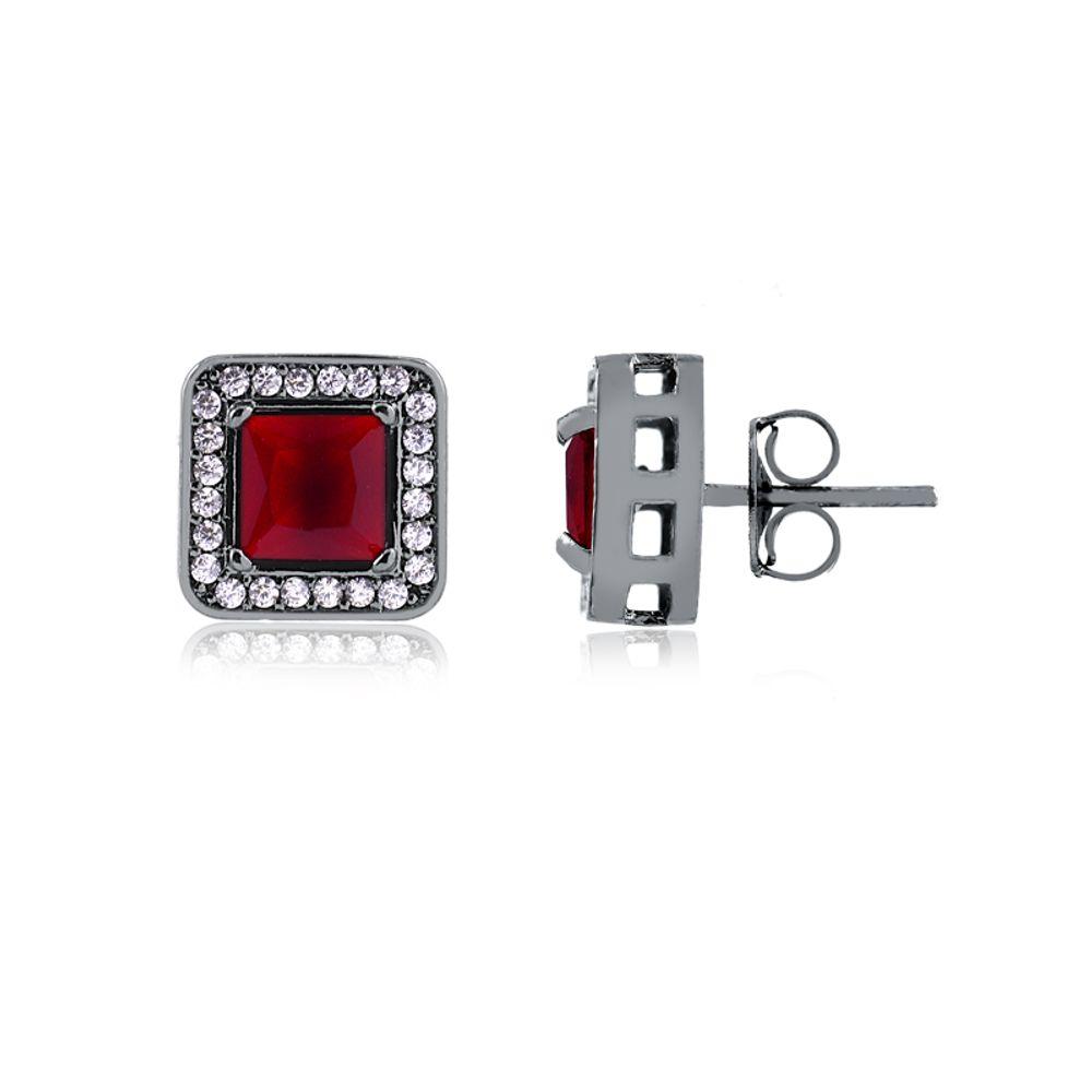 Brinco-quadrado-cravejado-em-rodio-negro-cor-cristal-vermelho