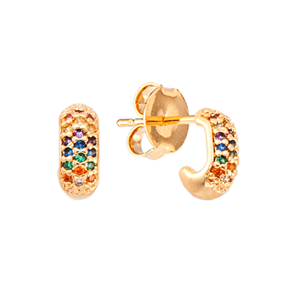 Brinco-de-argola-dourada-oval-pequena-com-zirconias-coloridas