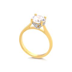 Anel-solitario-dourado-com-detalhe-cravejado-banhado-a-ouro-18k
