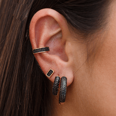 Piercing-Fake-Brinco-Quadrado-Pequeno-e-Duas-Argolas-Cravejadas-com-Zirconias-Negras