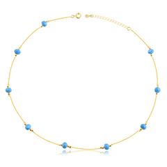 Colar-gargantilha-banhado-a-ouro-18k-com-bolinhas-coloridas-lapidadas--Zirconia-azul