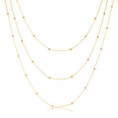 Colar-triplo-dourado-com-malha-de-bolinhas-banhado-a-ouro-18k