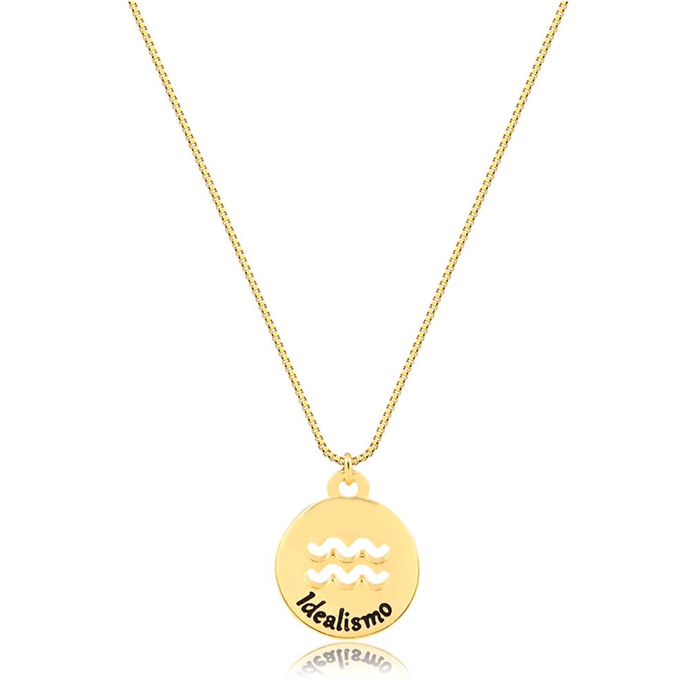Colar-dourado-de-signo-banhado-a-ouro-18k-Aquario