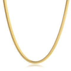 Colar-de-Malha-Fio-Alemao-com-Espessura-de-6-mm-Banhado-a-Ouro-18k