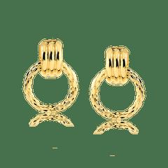 Brinco-de-argola-texturizada-banhada-a-ouro-18k