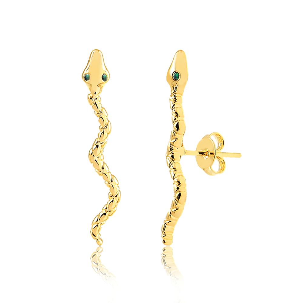 Brinco-snake-gold-banhado-a-ouro