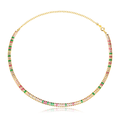 Choker-riviera-com-zirconias-navetes-coloridas-banhado-a-ouro-18k