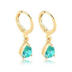 Brinco-de-argola-com-zirconia-colorida-banhado-a-ouro-18k-Cristal-turquesa