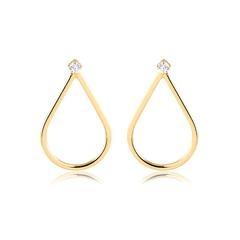Brinco-dourado-gota-com-ponto-de-luz-banhado-a-ouro-18k