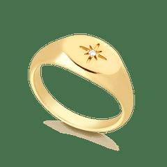 Anel-de-Dedinho-com-Estrela-Banhado-a-Ouro-18k